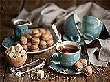Ciambella Tazza di caffè Ricamo di diamanti Tè pomeridiano Kit di strass Mosaico a mano Kit di pittura diamante a punto croce A4 30x40 cm
