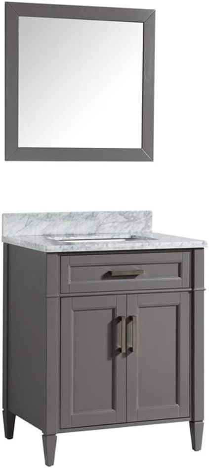 Vanity Art 30 卓出 Inches Single Carrara 在庫あり Bathroom Mar Sink Set