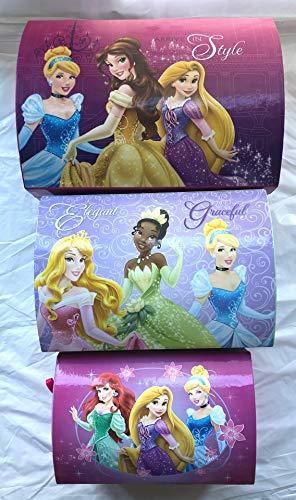 Widdop Disney Princesses Di136 - Juego de 3 Cajas de cartón, 40 cm