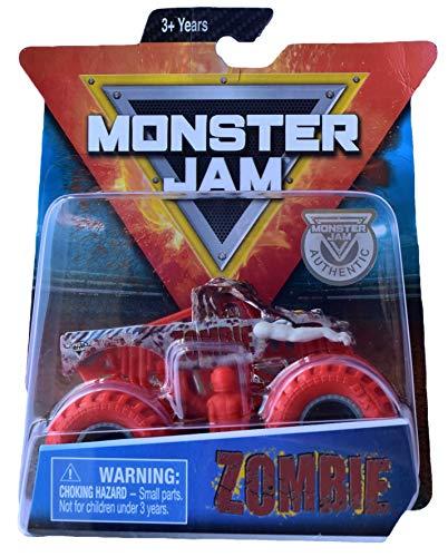 Monster Jam Hot Wheels Zombie a Escala 1:64 con Ruedas Rojas