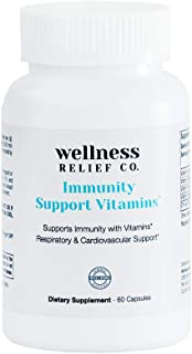Sponsored Ad - Immunity Support Vitamins with Vitamin A, C, D, K2 & Zinc – Boosts Immune System for Men & Women – 60 Capsules