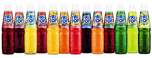 Tri Top Sirup Sortiment - 13 fruchtig leckere Sorten - 13 x 600ml - mit Tropical