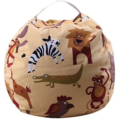 MKHDD Kreative Moderne Lagerung Gefüllte Tier Lagerung Sitzsack Tragbare Kinder Spielzeug Aufbewahrungsbeutel Kleidung Spielmatte Organizer Werkzeug,D,38Inch