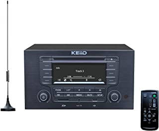 KEiiD CD Player with 4-Way 4x20W Amplifier 4.0 Output (No Speakers Inside) ,Built-in Bluetooth Receiver USB SD MP3 3.5mm A...