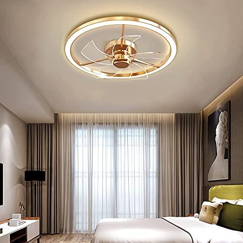 Ventilatore a soffitto per camera da letto e telecomando Silenzioso plafoniera contemporanea Ventilatori a led regolabili a 3 velocità per soggiorno Camera dei bambini Corridoio Lounge Lampada da so