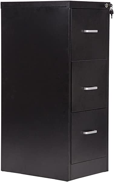 BestMassage 3 Drawer Letter File Full Suspension 18 Wide Filing Cabinet With Lock