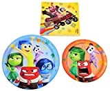 Disney Pixar Inside Out Holiday Birthday Party Pack - Plates & Napkins - Serves 8