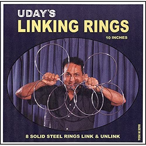 murphys 10 inch Linking Rings (8) by Uday - Trick