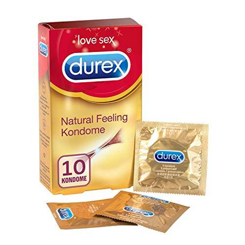 Durex Natural Feeling Kondome – Latexfreie Kondome für ein natürliches Haut an Haut Gefühl – (1 x 10 Stück)