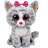 Ty Kiki Grey Cat Plush, Regular