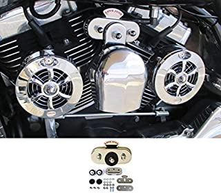 Love Jugs Cool Master Chrome with Vibration Master Kit V-Twin Engine Cooling System for Harley Motorcycles
