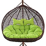 achievr Thickened Hanging egg hammock chair cushions WITHOUT STAND, Double Swing seat cushion Egg Nest Chair Pad for Indoor Outdoor Patio Backyard