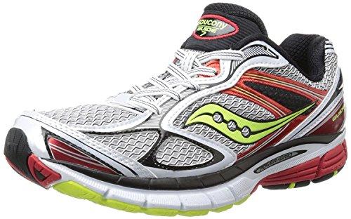 Saucony Men's Guide 7 Running Shoe,Blue/Slime/Orange,10.5 M US