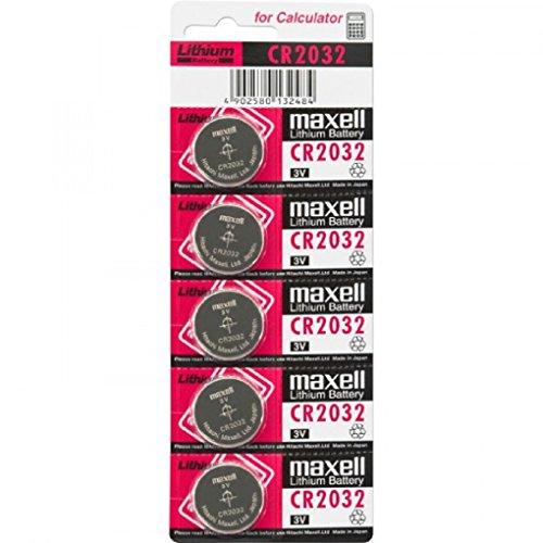 Maxell CR2032 3V - Pilas (Litio, Button/coin), paquete de 5 unidades
