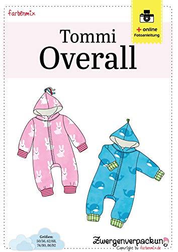 Farbenmix Tommi Schnittmuster (Papierschnittmuster für die Größen 50/56-86/92), Kuschelanzug für die Kleinsten