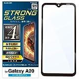 エレコム Galaxy A20 フィルム フルカバーガラス 3次強化 [角割れにも強い最強加工] 透明 PM-A……
