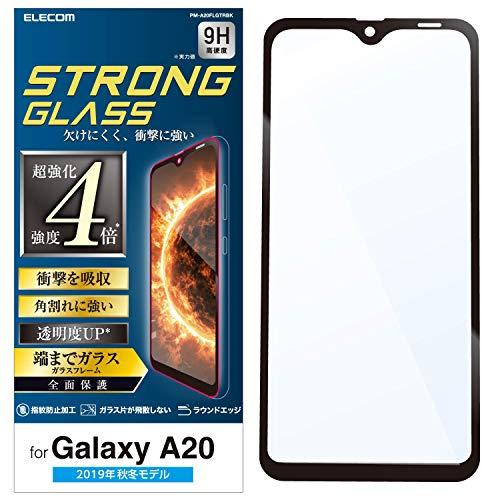 エレコム Galaxy A20 フィルム フルカバーガラス 3次強化 [角割れにも強い最強加工] 透明 PM-A20FLGTRBK