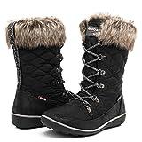 GLOBALWIN Women's 1731 Winter Waterproof Snow Boots (9 D(M) US Women's, 1731Black)