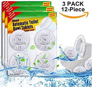 12 Count Automatic Toilet Bowl Cleaner Tablets with Bleach (3 Packs)