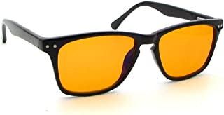 Leretto Blue Light Blocking Glasses for Better Sleep | Orange Amber Filter Lenses | Computer and Gaming Nighttime Eye Wear | Help You Sleep and Relax Your Eyes