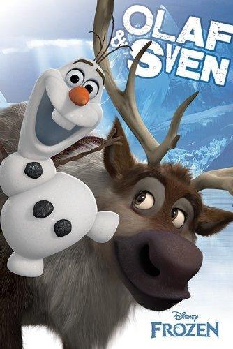 Offizielle Disney Frozen–Olaf & Sven–Maxi-Poster (61x 91,5cm)