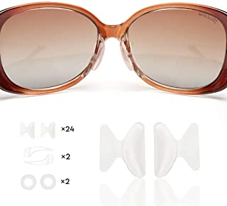 iGeyzoe Eyeglasses Nose Pads-24 Pairs Adhesive Nosepads Silicone Anti-Slip Nosepads Stick On Eyeglass Glasses Sunglasses Eyeware Reading Glasses, with 4 Pairs Eyeglasses Ear Retainer