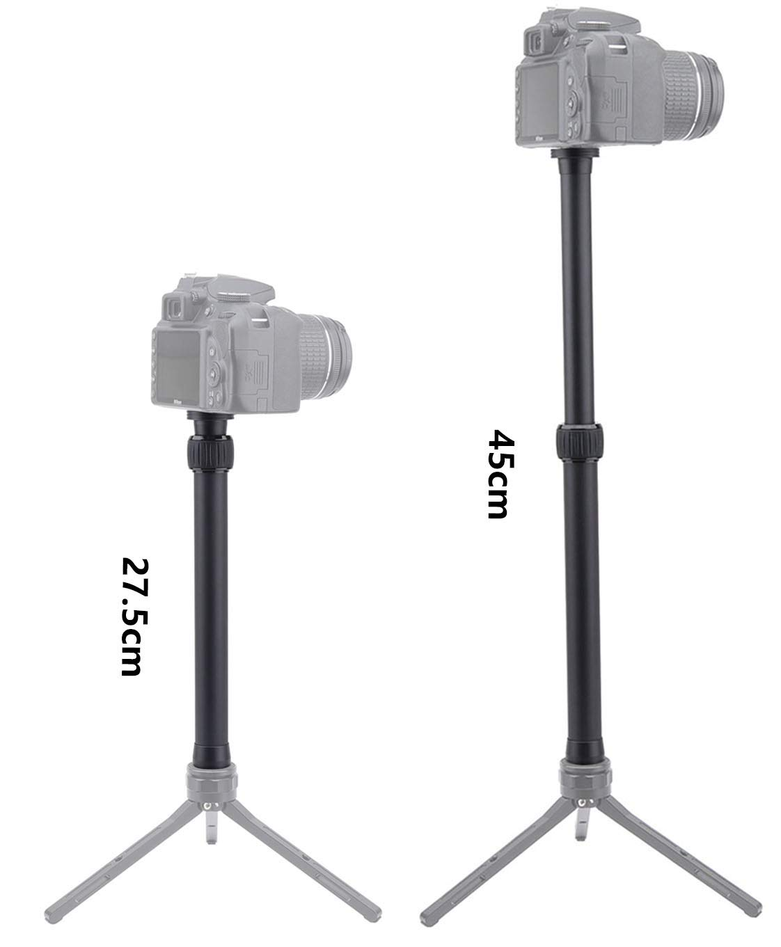 AFFVO Universal Extension Rod//Tripod Pole for Ronin S//SC Crane 2 Moza Air 2 2 Section Extendable, Black