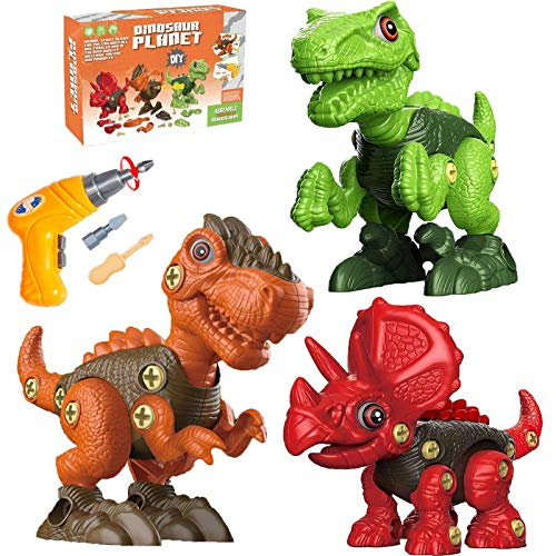 Dinosaur Toys for Kids 3 4 5 6 7 Year Old Boys, Take Apart Dinosaur Toys for Kids Ages 3-5, STEM Construction Building Toys for Kids 5-7 Toddler Toys with Electric Drill Birthday Gifts for Boys Girls