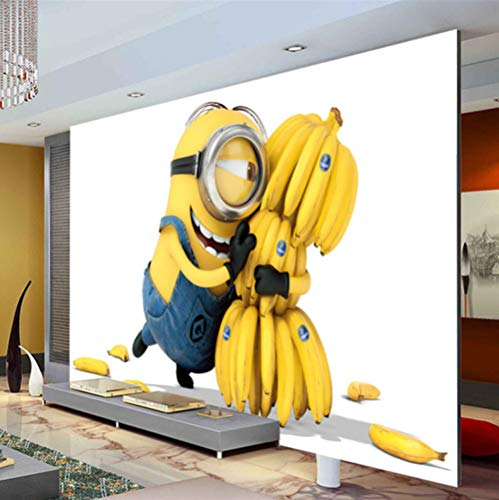 Cute Minions & Bananas Wallpaper Cartoon Movie Wall Mural Personalizar Foto Wallpaper Decoración De La Habitación Kid Bedroom Tv Wall Despicable Me