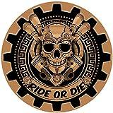Stickers rétro réfléchissant pour Casque de Moto tête de Mort Ride Or Die
