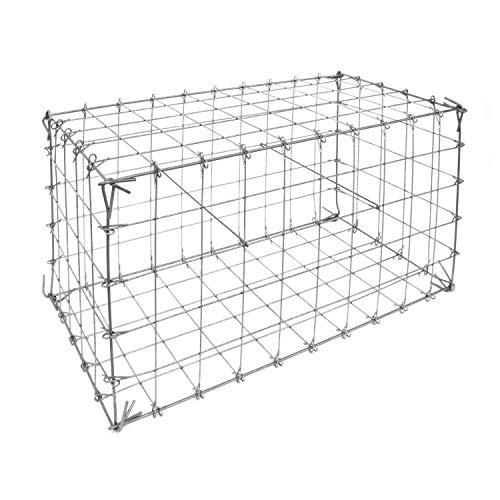 bellissa Ösengabione - 97100 - Gabionenkorb mit Steckverbindung - Dekorativer Steinkorb als Zaun oder Mauer für den Außenbereich - 100 x 50 x 50 cm