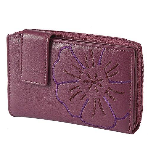 Branco, RV - Damengeldbörse, 22373, Flower, Berry (50), präsentiert von Lederoase