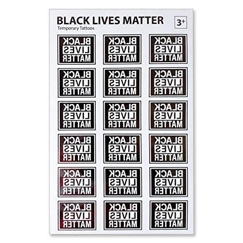 "Black Lives Matter Temporary Tattoos. 1-1/2"" W x 1-1/8"" H."