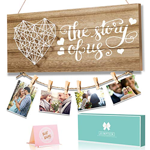 Couples Gifts Photo Holder Girlfriend Gifts - Bride and Groom Gifts Wedding Gifts for Wedding and Engagement - Engaged Present for Fiancé and Fiancee - Engagement Gifts for Newly Engaged Couples