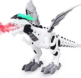DX DA XIN Electronic Robot Dinosaur Toy Large Walking Dinosaur Toys Kids Boys Girls Toddler Interactive Robotic Dinosaur Gifts with Sound, Light, Spitfire, Shake Tail Wings