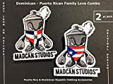 Mad Can Studio Dominican Republic Puerto Rico Flags Patches for Clothing Backpacks Jackets Hats Jean Patch