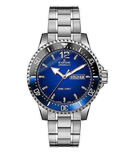 Edox 84300-3NBUM-BUBN Horloge - Zilver - Acero inoxidable