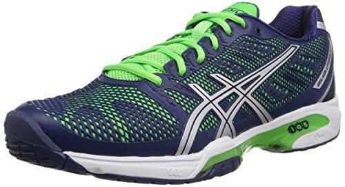 ASICS Men's Gel-Solution Speed 2 Tennis Shoe, Flash Green/White/Black, 6 M US