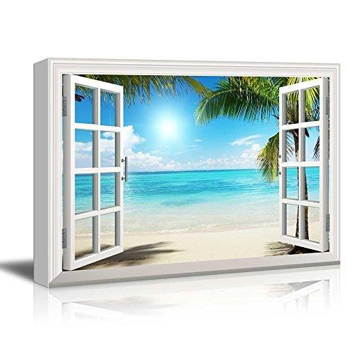 wall26 - Beautiful Tropical Beach Gallery - Canvas Art Wall Art - 24' x 36'