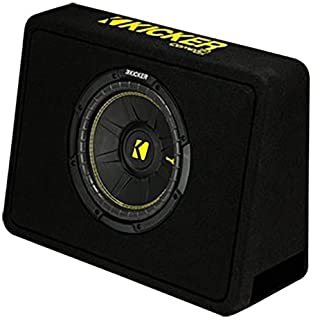 "Kicker 10"" 600 Watt 4 Ohm Vented Thin Profile Subwoofer Enclosure   44TCWC104"
