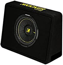 "Kicker 10"" 600 Watt 4 Ohm Vented Thin Profile Subwoofer Enclosure 