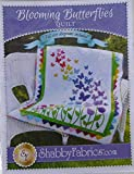 Pattern~Blooming Butterflies,Quilt Pattern by Shabby Fabrics~ 40 1/2' x 51 1/2'