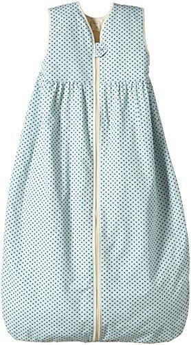 Lana Natural Wear Unisex - Baby Schlafsack Plüsch Punkte, Gepunktet, Gr. 120, Blau (Punkte Blue Air-Ombre Blue 9307)