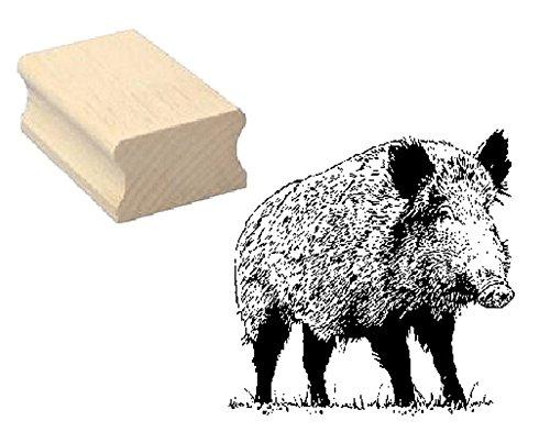 Stempel WILDSCHWEIN - Motivstempel aus Buchenholz