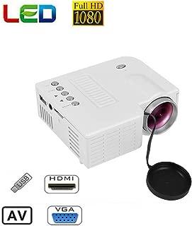 Films TV Vid/éoprojecteur sans Fil LCD 1080p Portable pour F/êtes Projecteur Vid/éo avec Interface AV USB HDMI R/éunions winnerruby Mini Vid/éoprojecteur