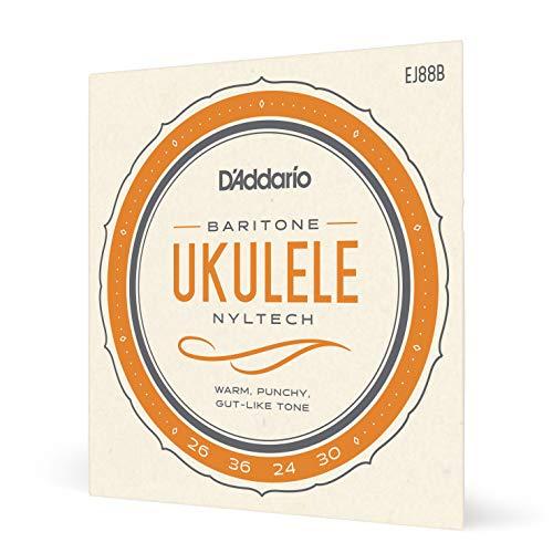 D'Addario EJ88B, cuerdas de Nyltech para ukulele barítono