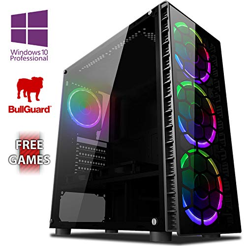 Vibox AX- 3 Gaming PC Ordenador de sobremesa con 2 Juegos Gratis, Windows 10 Pro OS (3,8GHz AMD A6 Dual-Core Procesador, Radeon R5 Gráficos Chip, 8GB DDR4 2400MHz RAM, 1TB HDD)