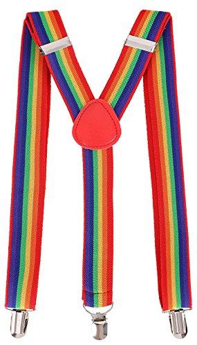 Livingston Unisex Clip-On Adjustable Elastic Suspenders - Assorted Colors
