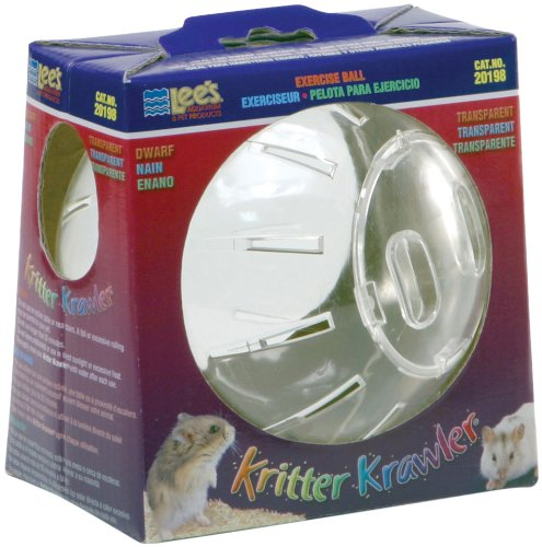 Lee's Kritter Krawler Mini Exercise Ball, 5-Inch, Clear