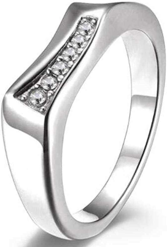 Jude Jewelers Stainless Steel Irregular Shape Stacable Wedding Band Promise Statement Valentines Ring